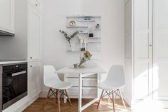 Compact dinning room for a studio apartment.