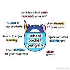 For all my friends who just started school or are about to! Take this school pocket penguin, do well, and make me proud! :D