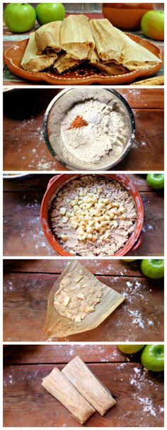 Apple tamales with cinnamon are the perfect dessert during fall and winter.