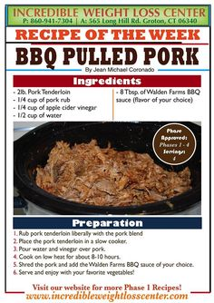 ideal  protein BBQ Pulled Pork