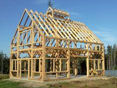 30' X 40' Timber Frame Barn - Black Dog Timberworks