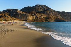 Der Strand von Plakais auf Kreta. / Plakias Beach in Crete.