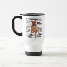 Staffie Traits Travel Mug - home gifts ideas decor special unique custom individual customized individualized