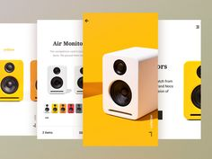 Some new and colorful work for a mobile shopping experience.