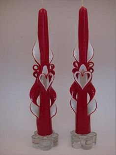Valentine Heart, Valentine Day Gifts, Taper Candles, Candle Making, High Gloss, Heart Shapes, Candle Holders, Carving, Romantic