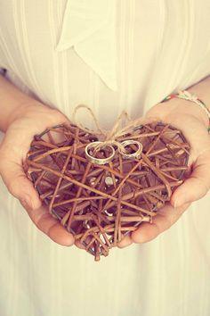 Wedding ring bearer pillow alternative Heart par TotallySalinda