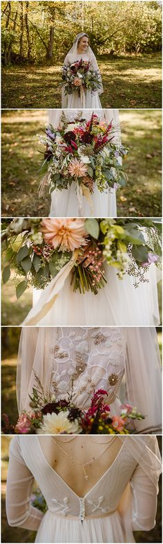 Vintage bride style. 1920s inspired outdoor autumn wedding in rural ohio. Eastlyn & Joshua Photography.