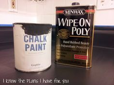I Know The Plans I Have For You: I've PAINTED the counter tops with CHALK PAINT!!