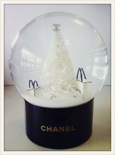 Chanel Merry Christmas Snowglobe