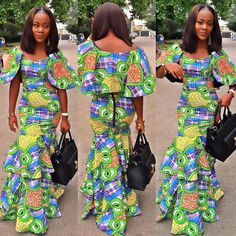 Lovely and Simple Ankara Styles Long Gown - DeZango Fashion Zone