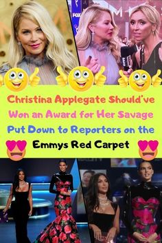Christina Applegate Should've Won an Award for Her Savage Put Down to Reporters on the Emmys Red Carpet Christina Applegate, The Emmys, Funny New, Butterfly Wedding, Sequin Party Dress, Wwe News, Beauty News, Interesting News, New Pins