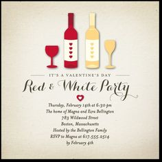 """Have a """"Red and White"""" Valentine's Day Party!"""