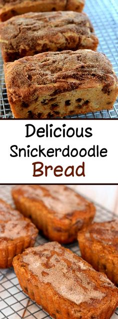 Snickerdoodle Bread- the perfect recipe for all cinnamon lovers! So are you an expert who is always looking forward to trying innovative cinnamon recipes? If so, then this special recipe will be very suitable for you. Healthy Cake Recipes, Delicious Breakfast Recipes, Brownie Recipes, Baking Recipes, Yummy Food, Baking Desserts, Baking Ideas, Recipe For Snickerdoodle Bread, Recipe For Snickerdoodles