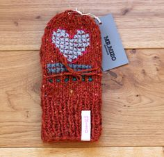 Bold colorful mittens from luxurious yarn spun in Ireland    Hand knitted mittens from a gorgeous yarn. Mixture of wool and angora, which adds luxurious
