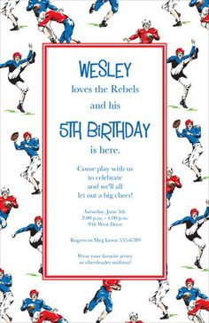 Football Retro Invitations