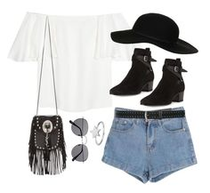 """""""Untitled #1858"""" by breannaflorence on Polyvore featuring Valentino, Topshop, Yves Saint Laurent, ChloBo and M&Co"""