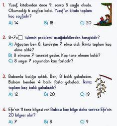 1. sınıf Matematik Problemleri | Eğitim İçin Reading, Word Reading, The Reader, Reading Books, Libros