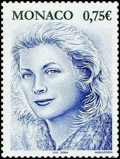 Monaco Stamp - Princess Grace