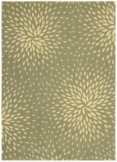 Buy Capri Collection Wool and Viscose Area Rug in Light Green design by Nourison at best price on BurkeDecor. Find best rugs at the discounted price and free delivery. Nourison Rugs, Clearance Rugs, Textures And Tones, Living Room Remodel, Graphic Patterns, Fun Patterns, Graphic Prints, Floral Rug, Grey Rugs