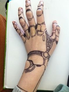 Robot hand, very cool! I'd draw it in pen just to see what it looks like