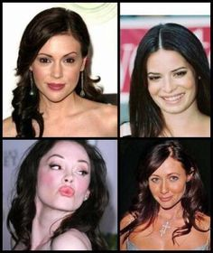 The Halliwell/Matthews sisters, from oldest to youngest. Prue, Piper, Phoebe & half sister, Paige Matthews.