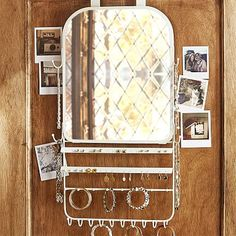 Over The Door Jewelry Organizer Mirror from PBteen. Shop more products from PBteen on Wanelo. Dorm Room Closet, Dorm Room Storage, Dorm Room Organization, Under Bed Storage, Closet Storage, Dorm Rooms, Over The Door Hanger, Over The Door Organizer, Over The Door Mirror