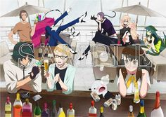 """Gatchaman Crowds"" Special Price Edition Blu-ray incentive art (2015)."