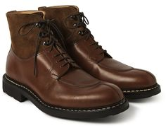 Heschung ginkgo leather & suede boots