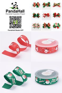 PandaHall Findings----Christmas  Decoration Ribbons  #ribbons #findings #jewelry #pandahall #promotion #Christmas #decoration