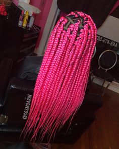 Top 60 All the Rage Looks with Long Box Braids - Hairstyles Trends Pink Box Braids, Cute Box Braids, Colored Box Braids, Short Box Braids, Blonde Box Braids, Jumbo Box Braids, Black Girl Braids, Braids For Black Hair, Braids With Color