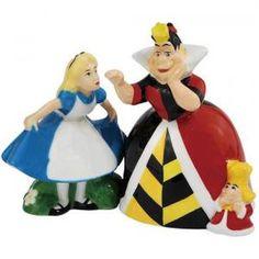 # NMWG24205 Alice in Wonderland Alice & Queen of Hearts Salt & Pepper Shakers by sensationaltreasures