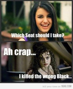 Killed the wrong Black - harry potter humor :)