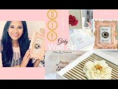 DIY Girly Wall Art - YouTube