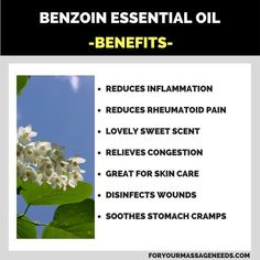 Benzoin Essential Oil Health Benefits and Uses Listed