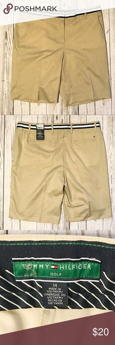 NWT Tommy Hilfiger Ariel Bermuda Golf Shorts 12 NWT Tommy Hilfiger Ariel Bermuda Light Khaki Golf Shorts size 12. No rips, tears, or stains. Perfect condition. Tommy Hilfiger Shorts Bermudas