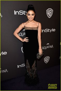 Sarah Hyland Double Dates with Vanessa Hudgens at InStyle's Golden Globes Party