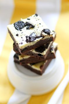 Transform crunchy Oreos into gooey brownies, which serve as a triple threat: cookies, brownies, AND cheesecake. Get the recipe from Confessions of a Cookbook Queen.   - Delish.com