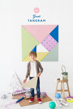 The tangram- Does anyone remember this from their childhood? For those who aren't familiar with the concept, this cute puzzle involves a square cut into a set of geometric tiles that can be arranged t
