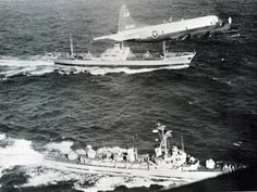 USN P-3 Orion aircraft shadows Soviet ships en-route to Cuba during the Missile Crisis.
