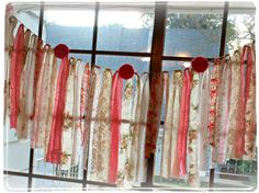 Anthropologie Inspired Vintage Lace Fabric Wedding Garland Garden PINK Roses Rosettes Parls Shower Decoration Banner Bunting on Etsy, $45.00