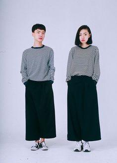 maengho:  waffle stripe knit 28,000원: