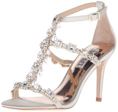 Badgley Mischka Women's Cascade Dress Sandal ** New and awesome product awaits you, Read it now  : Block heel sandals
