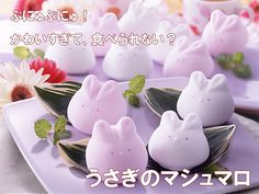 Japanese rabbit marshmallows. Oh no! They're only shipped inside Japan for now!