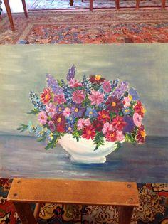 Composizione di fiori dipinta da me Painting, Art, Painting Art, Paintings, Kunst, Paint, Draw, Art Education, Artworks