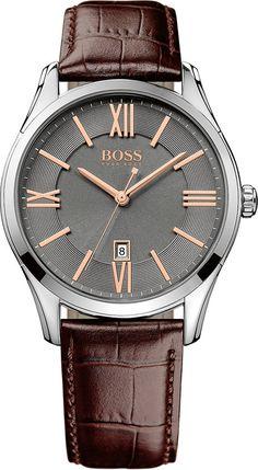 6bbb1eed4f6 Hugo Boss Black Ambassador HB1513041 - Horloge - Leer - Bruin - 44 mm  Joalheria
