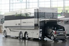 Check out these 8 awesome car carrying motorhomes. When money is no option, and you want to bring your car with you on your road trip, nothing else is better than having one of these awesome car carrying RVs.Some of these have storage for a car underneath, while others store them in the rear of...