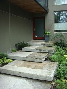 excellent front door + steps