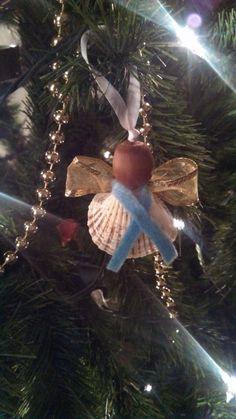 Unique Natural Seashell Angel Ornament Set of 4 door KTKreations123
