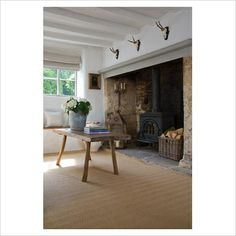 Cotswold cottage. Love the natural materials and clean simplicity here.