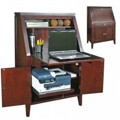1000 images about computer desk ideas on pinterest computer desks compact and laptop desk - Computer armoires for small spaces property ...